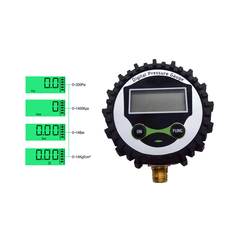 Godeson cyfrowy manometr tester ciśnienia środek odczyt LCD 4 jednostek 200PSI 1/8NPT