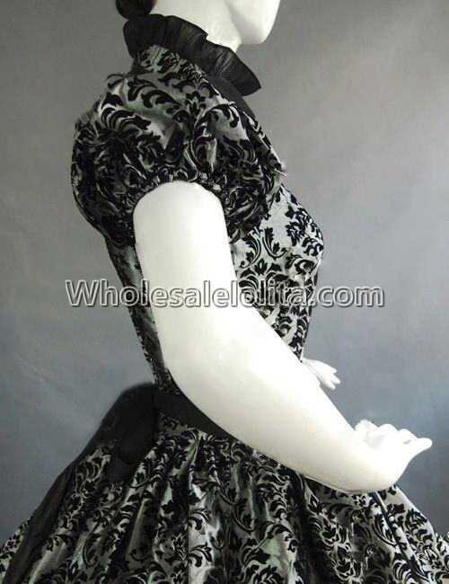 Vintage Costumes 1860 s guerre civile sud Belle gothique Lolita robe robes victoriennes - 5