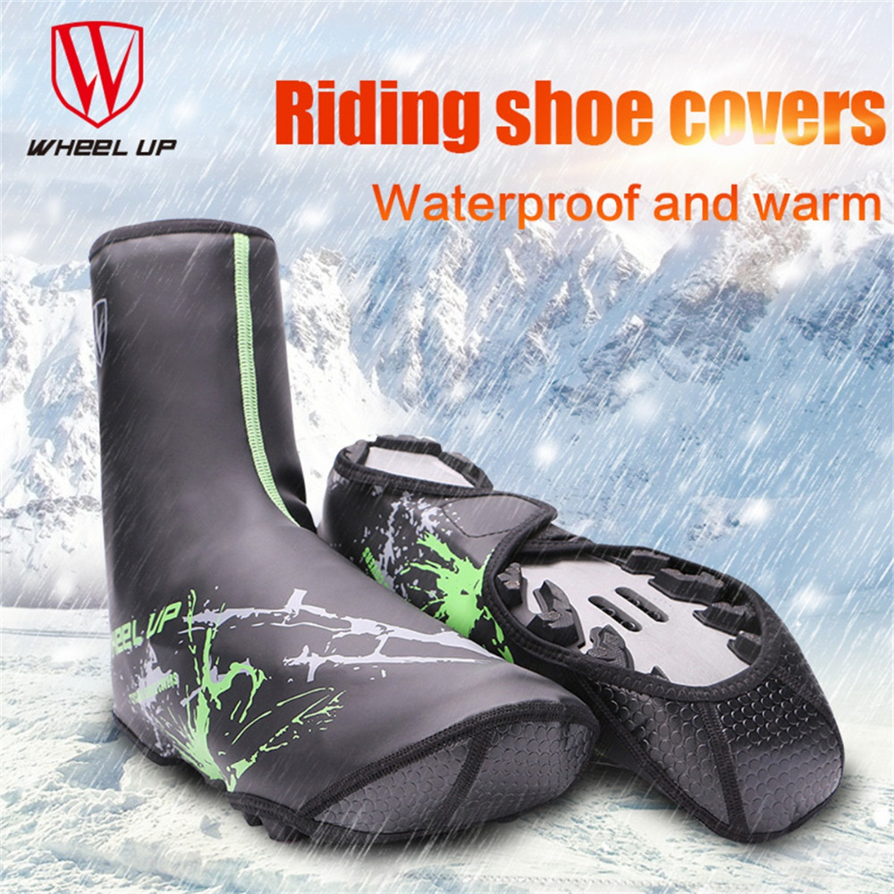 WHEEL UP Sport Shoe Cover winter PU waterproof cycling shoes covers bicycle warm fundas riding equipment for MTB mountain road