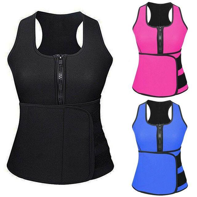 Adjustable Body Shaper Slimming Waist Support Brace Trainer Sauna Suit Top Vest Trimmer Trainer Belt Fitness Shapewear S-4XL 1