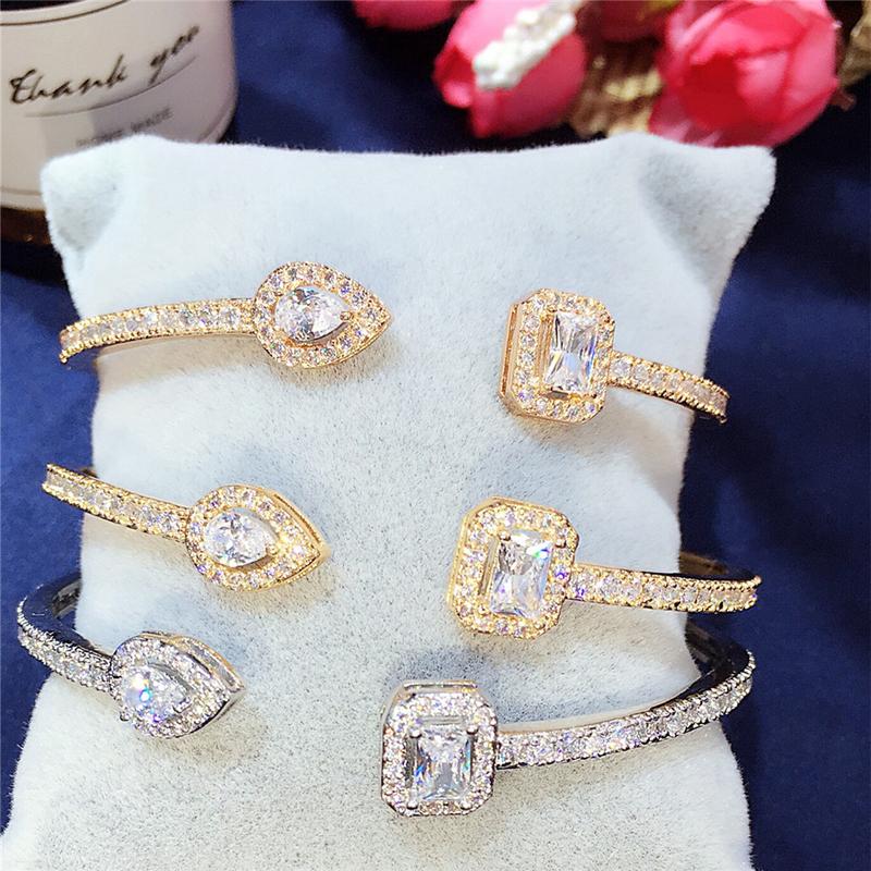 Лидер продаж роскошный браслет Багет с нормальным кубическим
