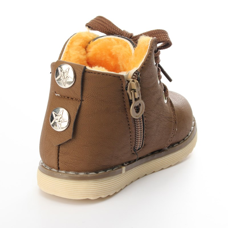 2016-Motorcycle-Boys-Girls-Kids-Plush-Hand-Stitching-Cotton-Shoes-ankle-Boots-Childrens-snow-Boots-Warm-Leather-Botas-2