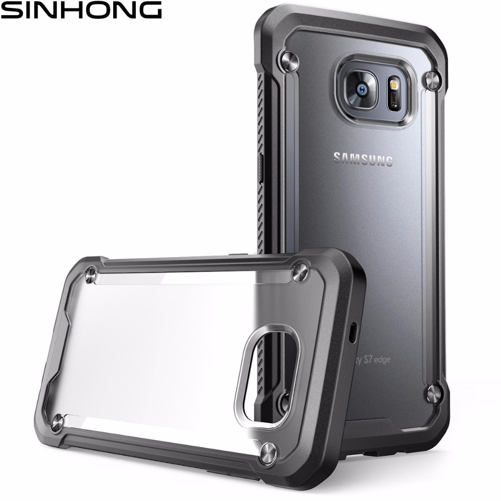 SUPCASE Armor Shield Shockproof Case For Samsung Galaxy S7 S7 Edge Defender Protective Cover Slim Hard Clear Back Soft Bumper