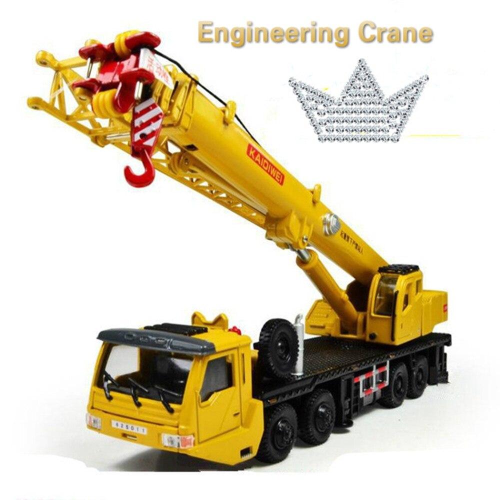 Hot Sale 1 : 55 Alloy Sliding Construction Crane Model Toys Children's Educational Toys Free Shipping