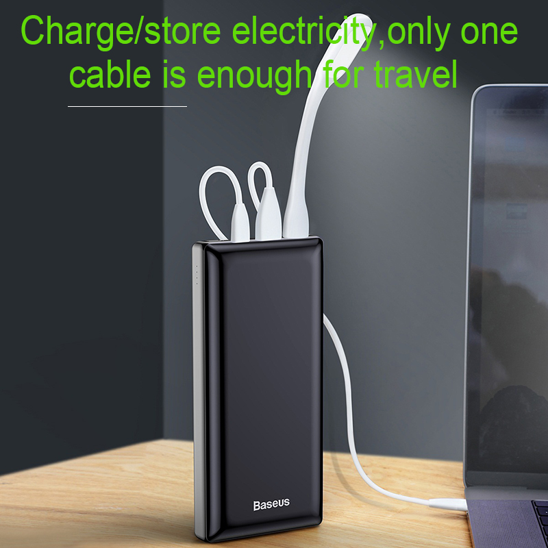 Baseus 30000mah Big Capacity Powerbank For Mobile External Battery Phone Quick Charger 3.0 Type C Power bank For iPhone Samsung 1