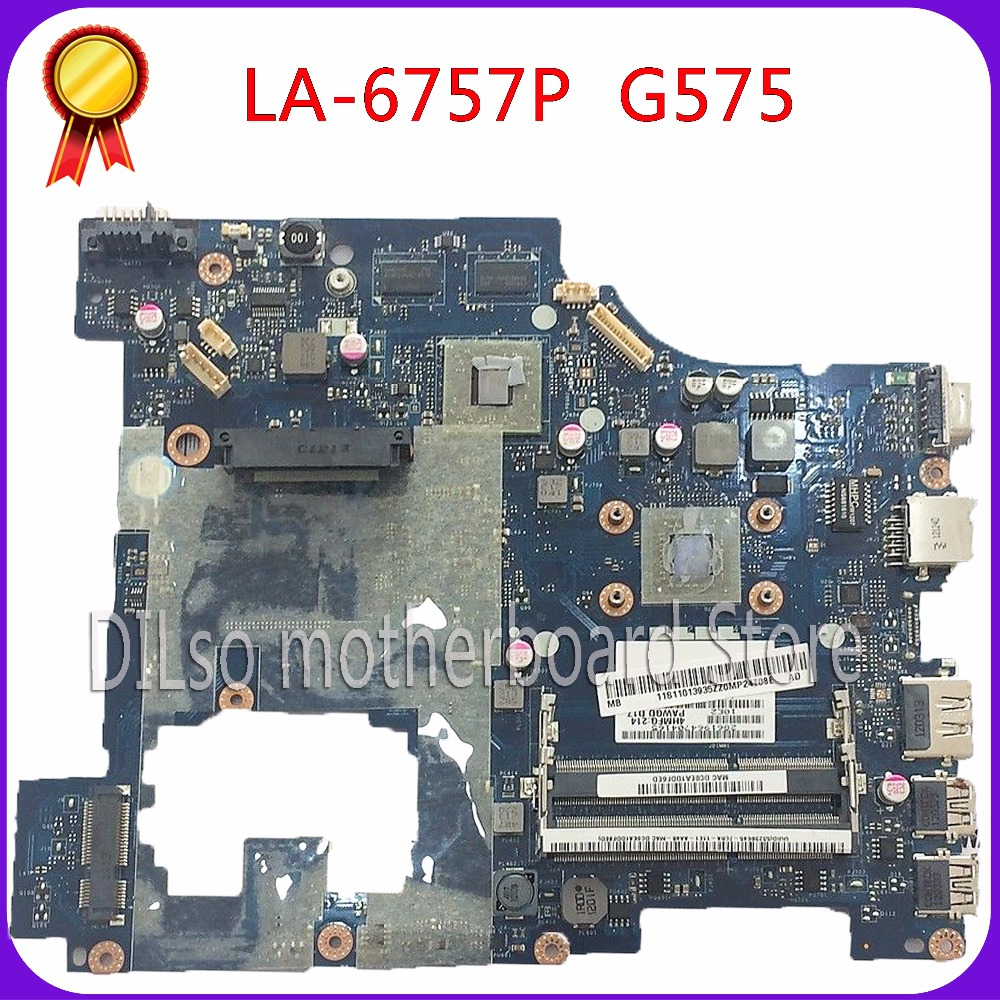 KEFU LA-6757P motherboard for Lenovo G575 laptop motherboard PM lenovo la-6757p mainboard 100% tested motherboard freeshipping for lenovo laptop motherboard g570 piwg2 la 6753p hm65 ddr3 pga989 mainboard