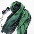 [SLKSCF] 180X70CM New Fashion Gradient Colors Silk Scarf Facecloth Gradual Modal Silk Bends Silk Scarves Muslim Hijabs Wraps
