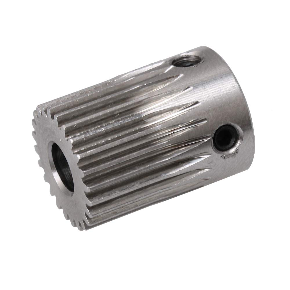 11mmx18mm Silver 20 Teeth 0.5 Mold Stainless Steel Metal Motor Gear Wheel 5mm Hole For DIY Small Drilling Machine