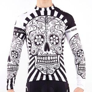 Image 4 - 2019 jesień Pro koszulka kolarska z długim rękawem czaszka Retro mężczyźni koszulka z długim rękawem koszulka nosić zespół Ropa De Ciclismo długi rower Jersery