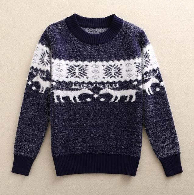 New 2016 Autumn Winter Boys Sweater 3-8Y Kids Winter Sweaters Wear Warm Children Pullovers Jumper For A Boy AS-1523