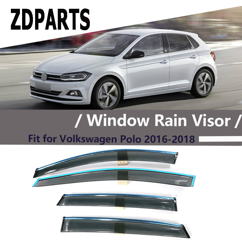 Polo5 Polo Hatchback 5 Door 5th Generation Polo: ZDPARTS 4Pieces/Set Car Wind Deflector Sun Guard Rain Wind