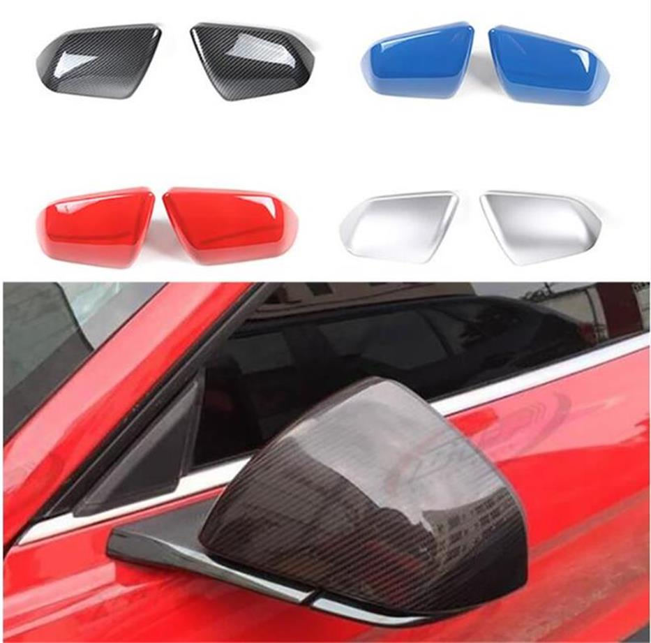 SHINEKA Car Styling Rearview Mirror Cover Trim Side Mirror Frame for Ford Mustang USA Standar 2015+ Exterior Accessories epr car styling for nissan skyline r32 gtr gtst carbon fiber mirror cover glossy fibre exterior side accessories racing trim
