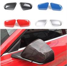 цена на Mustang Car Rearview Mirror Cover Side Mirror Frame Encase for Ford Mustang USA Standar 2015+
