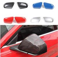 SHINEKA Car Styling Rearview Mirror Cover Trim Side Mirror Frame for Ford Mustang USA Standar 2015+ Exterior Accessories