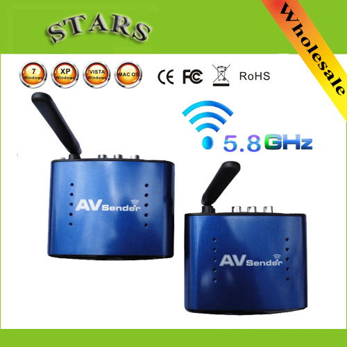 5,8g wireless av remetente vídeo tv receptor-transmissor remotos ir extensor com adaptador original pat530, atacado transporte livre