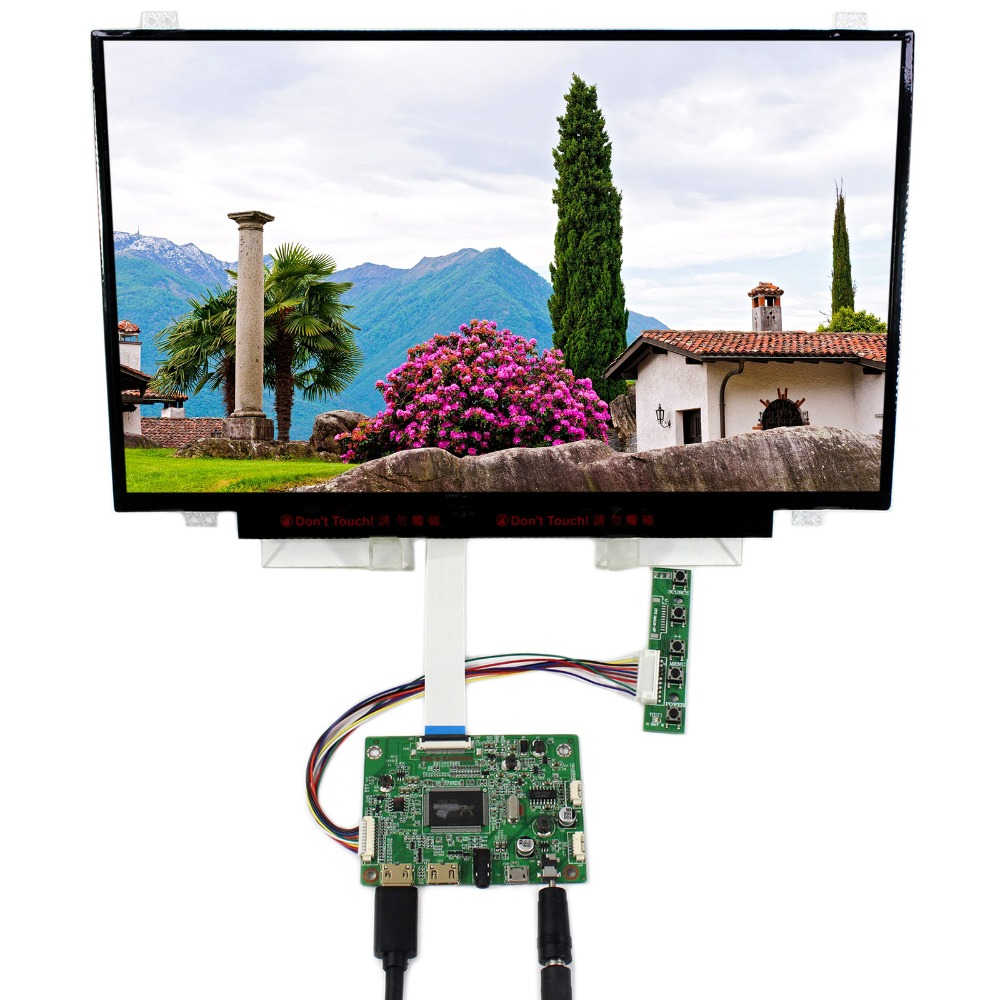 HDMI Mini LCD Controller Board With 14inch 1920x1080 B140HAN01 EDP IPS LCD Screen vga hdmi lcd edp controller board led diy kit for lp116wh6 spa1 lp116wh6 spa2 11 6 inch edp 30 pins 1lane 1366x768 wled ips tft