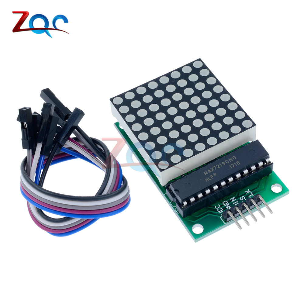MAX7219 Dot Led Matrix Module MCU LED Display Control Module Kit For Arduino 5V Interface Module 8 x 8