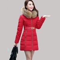 2015 Korean Women Yards Nagymaros Collar Slim Down Girls Long Jacket L0066