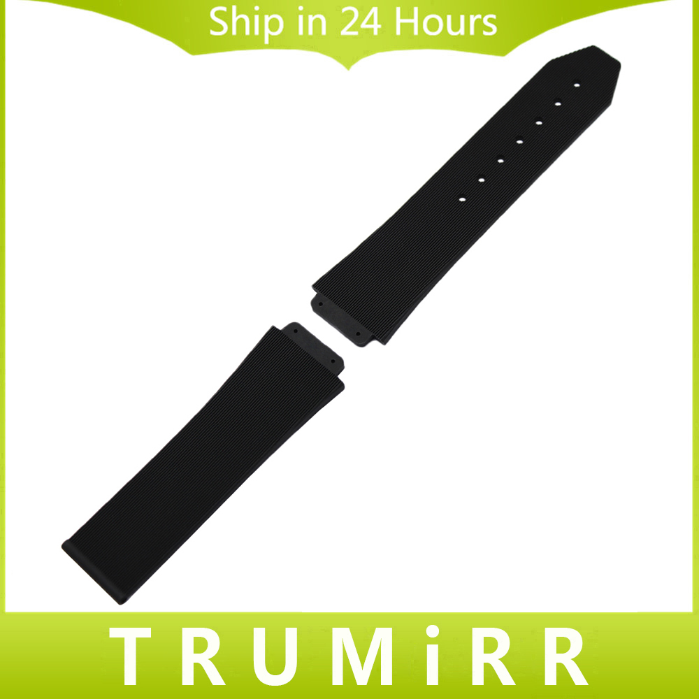 28mm x 19mm Convex Silicone Rubber Watchband for HUB Men's Watch Band Wrist Strap Replacement Belt Resin Bracelet Black silicone rubber watchband 16mm x 29mm convex strap for ga100 g8900 gd 100 men women watch band resin wrist bracelet black white