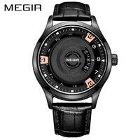 MEGIR Watch Men NEW Fashion Casual Quartz Leather Sport Water resistant Watches Mens Clock Male Wrist watches zegarek meski