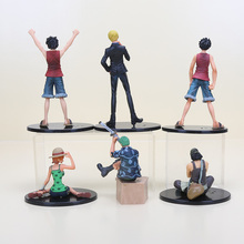 7-17cm 6 styles Usopp Luffy Zoro Sanji Nami Action Figures