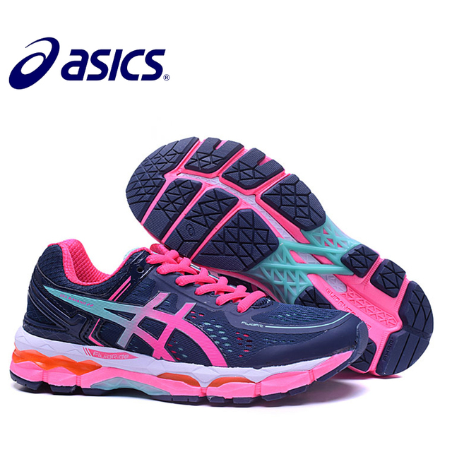 detailed look 1bc63 a8e5b 2018 Orginal ASICS GEL-KAYANO 22 Women s Cushion Sneakers Comfortable  Outdoor Athletic Running shoes Hongniu