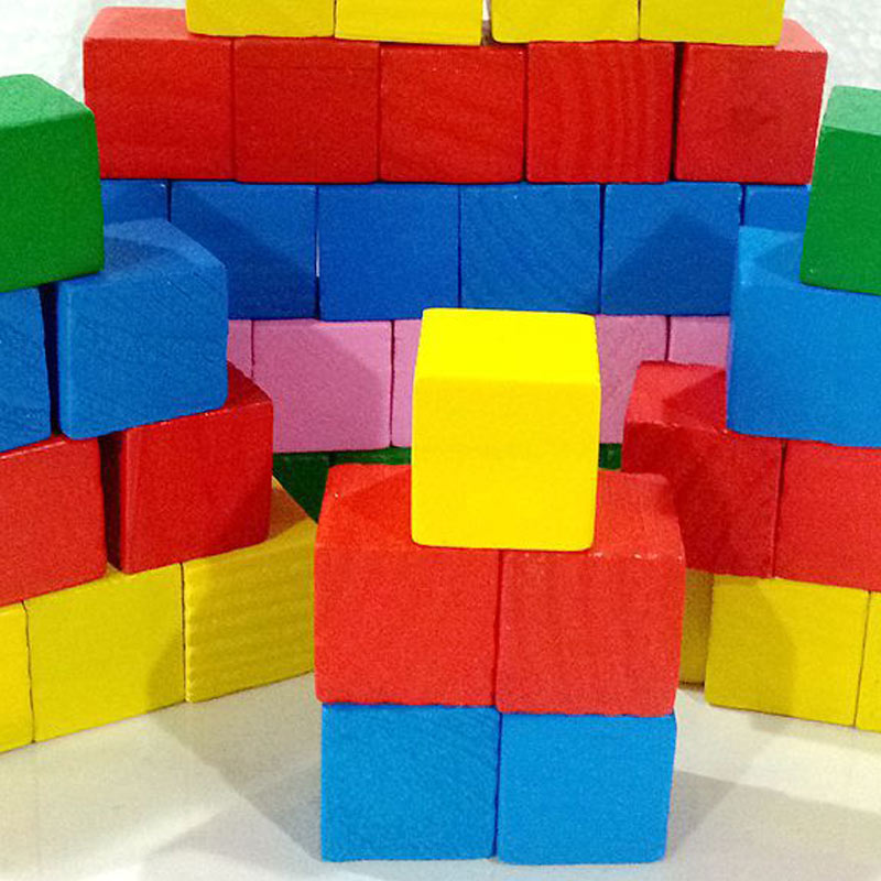 Image 4 - Hot Selling 2cm 20pcs Children Kids Wooden Building Blocks Square Math Teaching Tool Toy Colorful 775-in Blocks from Toys & Hobbies