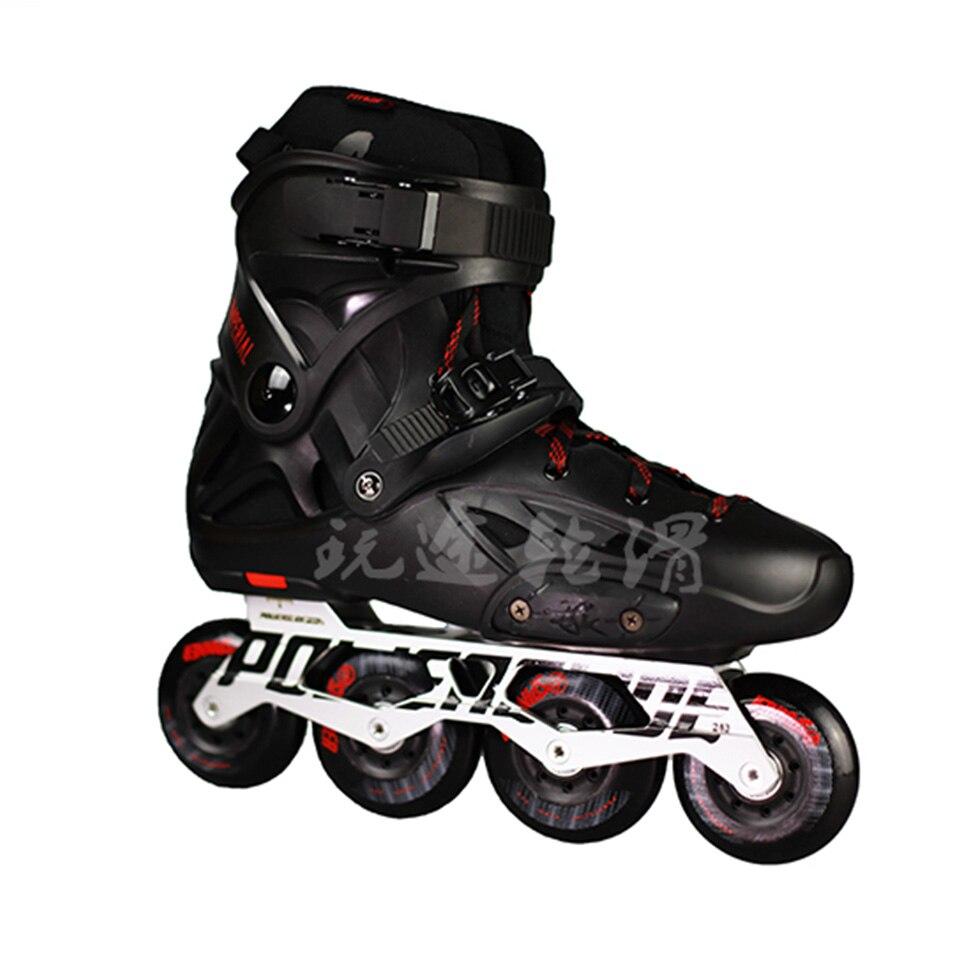 100% D'origine 2018 Powerslide Impériale roller-skates Professionnel Slalom roller-skates Rouleau Livraison chaussures de patinage Coulissante Patines - 2