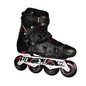 Image 2 - 100% Original 2018 Powerslide Imperial Inline Skates Professional Slalom Inline Skates Roller Free Skating Shoes Sliding Patines