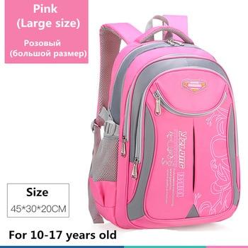 2020 hot new children school bags for teenagers boys girls big capacity school backpack waterproof satchel kids book bag mochila - Large-Pink