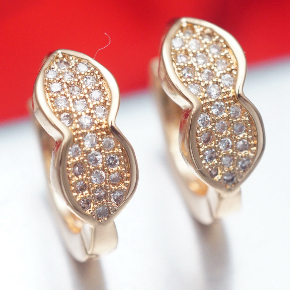 Jewelry & Accessories Humorous Yunkingdom Gold-color Cubic Zirconia Fashion Small Hoop Earrings For Women New Hoops K2059 Let Our Commodities Go To The World Hoop Earrings