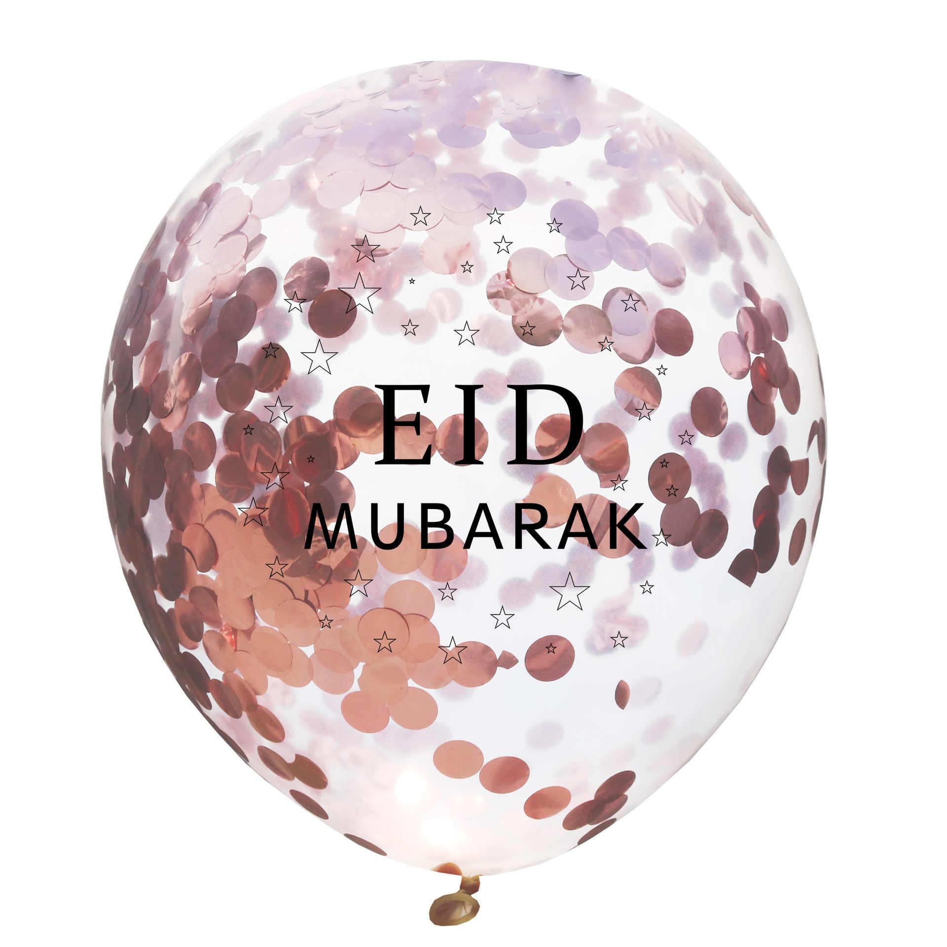 5 PS 12 inch EID Mubarak Kareem Confetti Bóng Tháng Ramadan và EID Đồ Trang Trí cho Nhà Ramadan Mubarak Trang Trí Tiệc Cưới nguồn cung cấp