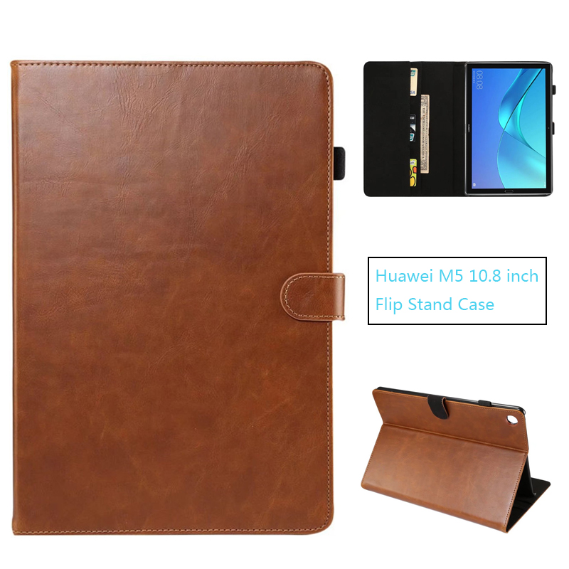 Luxury Cover for Huawei Mediapad M5 10.8 PU Leather Case For Huawei Mediapad M5 10(PRO) 10.8 inch CMR-AL09/CMR-W09 silicone with bracket flat case for huawei mediapad m5 8 4 inch