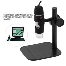 где купить USB digital microscope camera led electronic electron Endoscope  500X glasses magnifier Magnifying Glasses Desk Loupe Black дешево