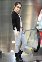 2018 autumn and spring new Korean version of casual fashion belt decorated Slim short jacket coat female models