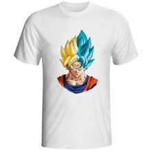 Super Saiyan Yellow X Blue T-shirt Creative Design Cool T Shirt Anime Skate Style Women Men Top