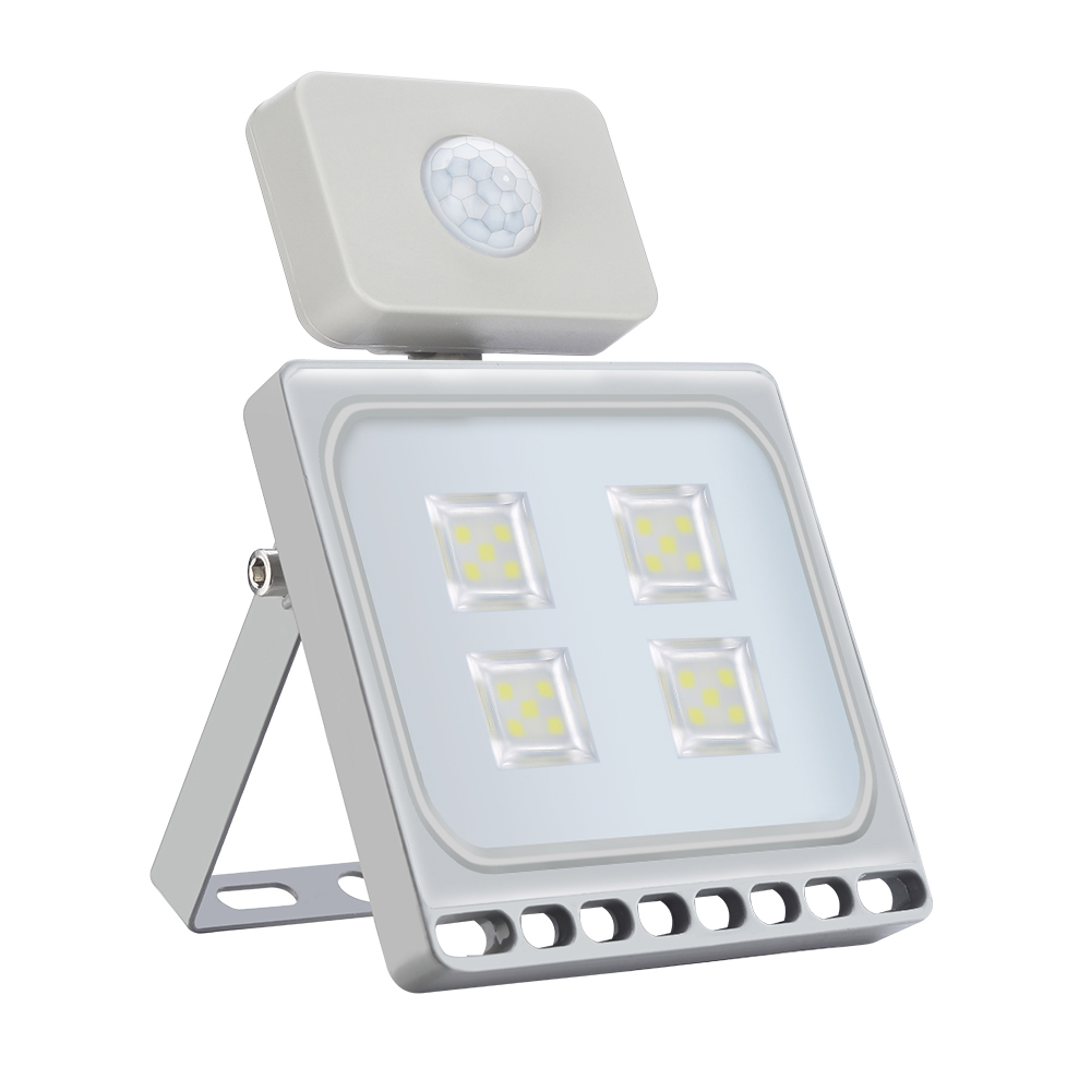 Ultrathin Motion Sensor Outdoor Lighting <font><b>Led</b></font> Flood Lights 110V 220V <font><b>20W</b></font> <font><b>Led</b></font> <font><b>Floodlights</b></font> Waterproof IP65 Spotlights 5PCS/Lot image