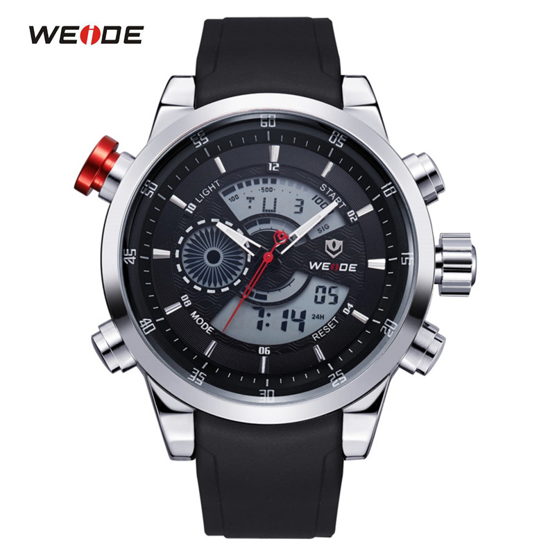 WEIDE Sports Military Watches Multifunctional Japan Quartz LCD Digital Movement Waterproofed Watch Men Wristwatches Luxury Brand