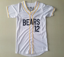 9f68abf65b9 Mens Baseball Jerseys Bad News BEARS Movie Chicos Bail Bonds 12 Tanner  Boyle Retro Sewn Button