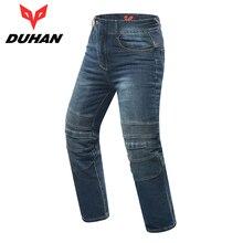 DUHAN Hommes de Moto Motocross Off-Road Genou De Protection Moto Jeans Pantalon Coupe-Vent Moto Racing Jeans Occasionnels Pantalon