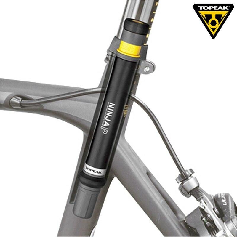 Topeak NINJA P Vélo Pression Mini Pompe À Vélo De Route 160psi Presta Valve Portable Pompe CNC Gonfleur Tige De Selle du Vélo Caché Pompe