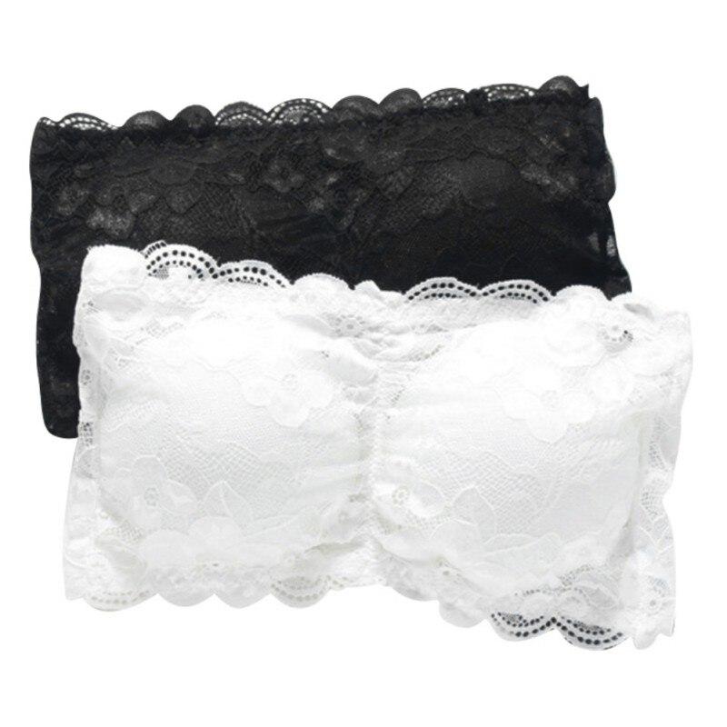 Sexy Women Cotton Strapless Tube Top Crop Tops Blusa De Renda Padded Seamless Tube Bra Bralette Bandeau Top