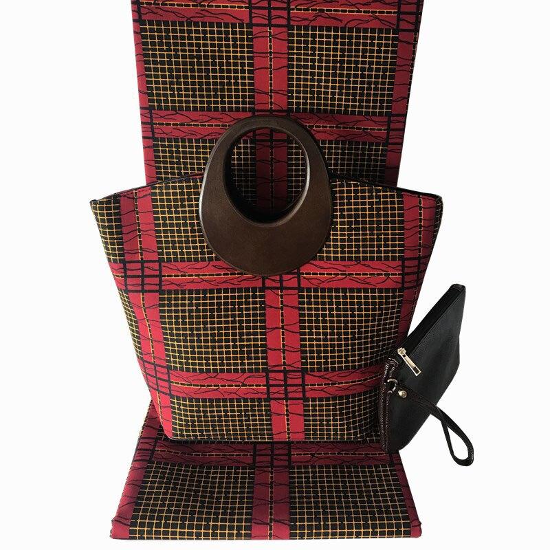Ensembles de sacs de cire africaine de haute qualité H & Q, 2019 sac à main femme le plus populaire et 6 mètres de tissus de coton cire Ankara africain 3 pièces/ensemble-in Tissu from Maison & Animalerie    1