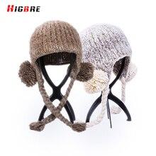 2016 New Fashion Korean Female Warm Women's Winter Knitted Hats Fur Ball Autumn Hat Women Gorros Mujer Invierno Bonnet Femme