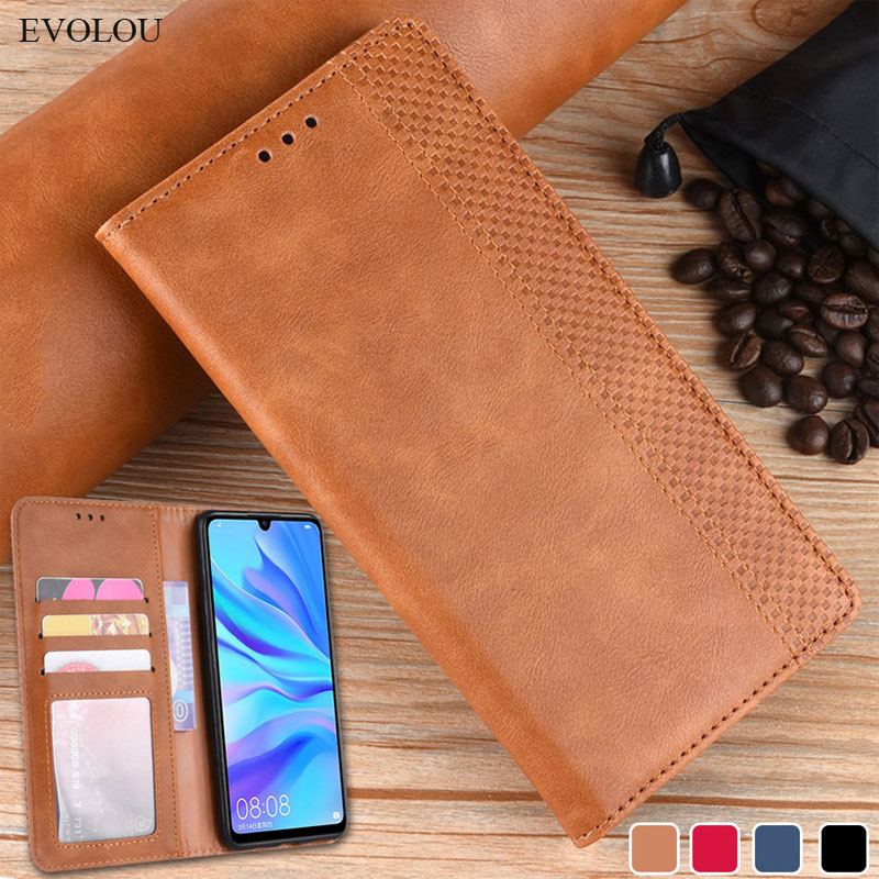 Retro Magnetic Flip Leather <font><b>Case</b></font> for <font><b>Huawei</b></font> Honor 20i 10i 10 Lite Y5 Y6 <font><b>Y7</b></font> Pro <font><b>2019</b></font> 8S 8A P Smart Z Book Wallet Flip Cover <font><b>Cases</b></font> image