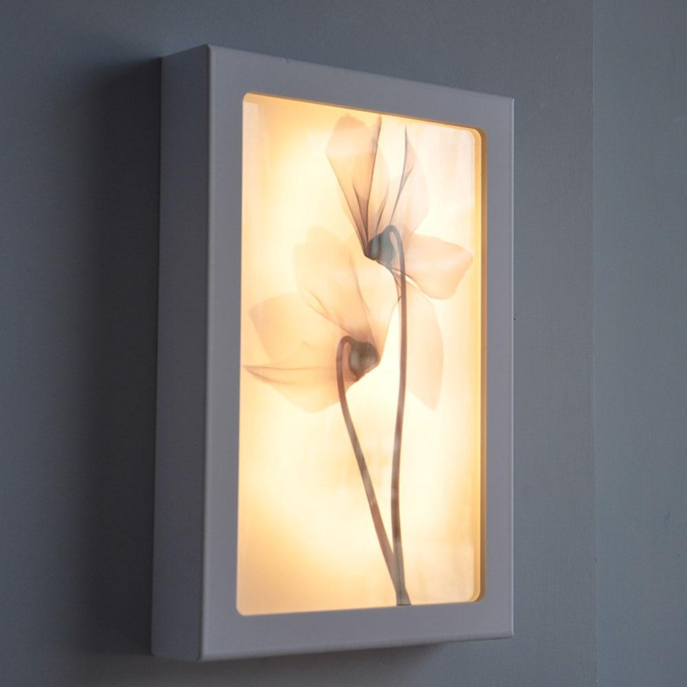 Postmodern Decorative Paintings Led Wall Lamp White Border 220v ...