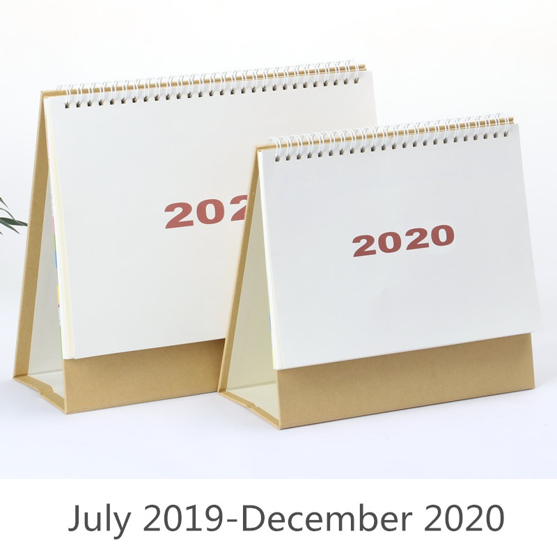 Calendario Diario 2020.Calendario De Escritorio De Papel Kraft Simple A La Moda 2020 Calendario Semanal Diario 2018 07