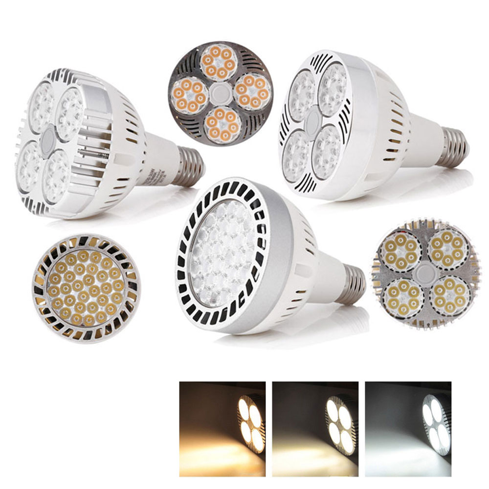 PAR30 Lamp 35W 45W Track Light Flood Lights Bulb E27 COB LED Warm/Cold/Natural White Spot Lamps For Kitchen Clothes Shop