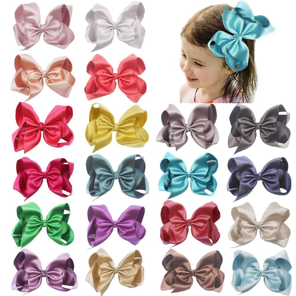 20Pcs Bling Glitter Sparkly Hair Bows 6 Inch Glitter Grosgrain Ribbon Bows With Alligator Hair Clips For Girls  Kids Teens