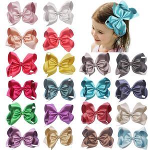 Image 1 - 20 個ブリンブリングリッターキラキラ髪弓 6 インチグリッターグログランリボンワニ口のヘアクリップ子供十代の若者たち